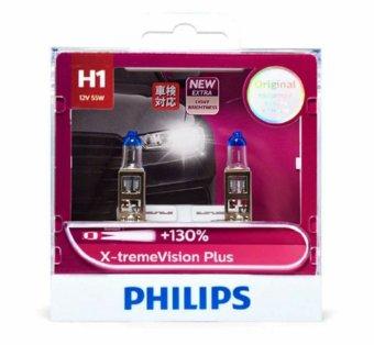 Bộ 2 bóng đèn Philips XstremVision Plus chân H1 tăng sáng 130%