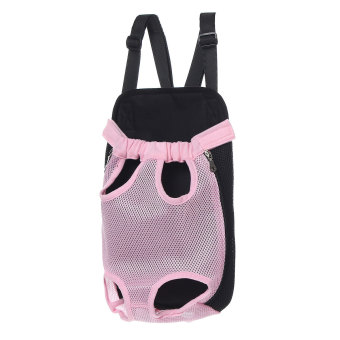 Pet Puppy Dog Cat Pig Piggy Canvas Backpack Front Carry Travel Net Bag w/ Strap - Intl