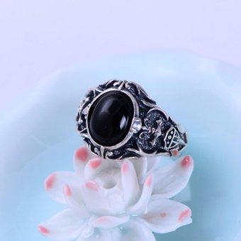 Nhẫn bạc nam đầu Rồng