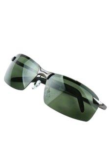 Bluelans Framed Outdoor Sports Polarized Sunglasses (Green)