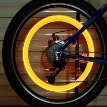 Đèn LED gắn van bánh xe máy ô tô HQ206131-3 (Xanh)