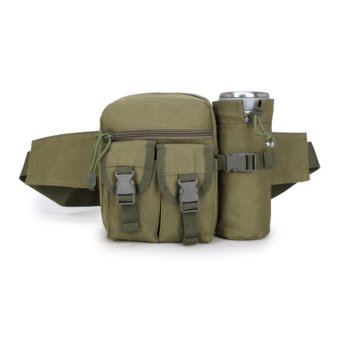 Túi đeo hông, đeo bụng thể thao có ngăn chứa nước (xanh)