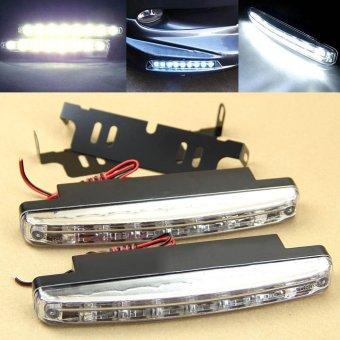 2pcs Car Daytime Running Light 8 LED DRL Daylight Kit Super White Head Lamp- - intl