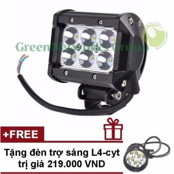 Đèn led trợ sáng xe máy phượt c6 GNG + Tặng đèn L4