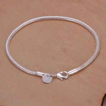 Brilliant Snake Bone Shape Link Bracelet For Women - intl