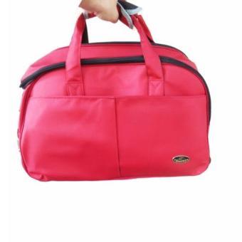 Túi du lịch có cần kéo vải mịn K02 ĐỎ(Đỏ rượu vang)