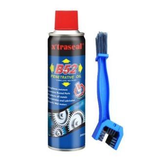 Combo Chai xịt dưỡng sên B52 Penetrating Oil và bàn chải vệ sinh xe 3D