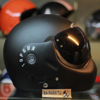 Mũ bảo hiểm fullface lật hàm 3/4 đầu AVEX TopGun (Đen nhám)