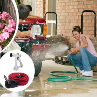 Vòi rửa xe đa năng loại 10m HQ STORE 1TI66-2 (Xanh lá cây)