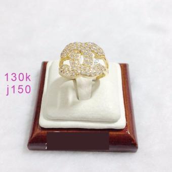 Nhẫn Xi Vàng 18K Chanel 2 Tầng Pha Lê Gadoshop