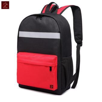Balo Laptop Thời Trang Phối Màu, Phối Dải Phản Quang Glado - BLL003RE (Đen Phối Đỏ)