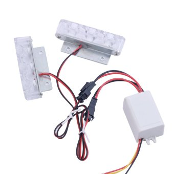 Bộ 2 led chớp xanh và đỏ VH050 (dẹp)