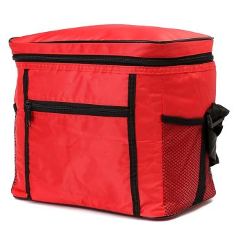 Travel Portable Waterproof Thermal Cooler Insulated Tote Picnic Lunch Ice Bag Red NEW - intl