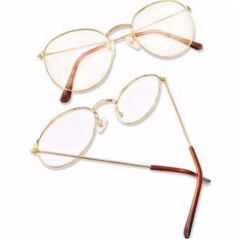 Mắt kính ngố gọng cận Nobita nam-nữ thời trang mới KZY ( Vàng Đồng)
