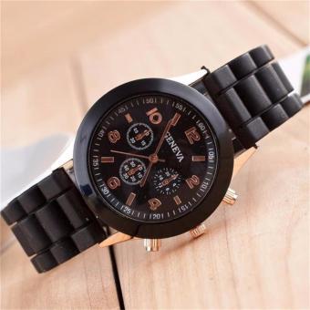 Đồng hồ nam dây cao su GENEVA (đen)