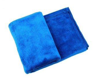 Khăn lau ô tô Microfiber 60 x 160 (xanh)