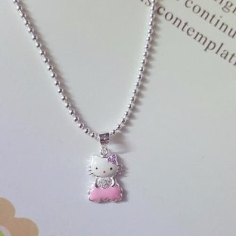 Bộ dây chuyền trẻ em liền mặt trang sức bạc S99.9 Bạc Xinh RYD140048