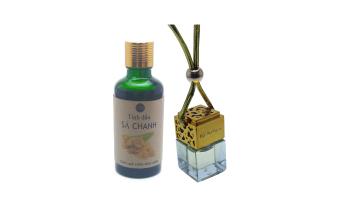 Tinh dầu treo xe sả chanh nắp vàng + dầu sả chanh Ngọc Tuyết 50ml