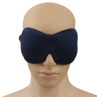 BolehDeals Travel Eye Mask Sleep Shade Cover Rest Relax Sleeping Blindfold - Dark Blue - intl