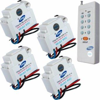 Bộ 4 công tắc điều khiển từ xa IR-RF TPE RI02+ 01 Remote 8 nút - lắp mặt panasonic