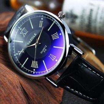 Đồng hồ dây da nam YZL 313 (Đen)