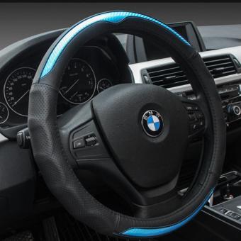 BỌc vô lăng thể thao cao cấp cho mọi dòng ô tô (Xanh đen Carbon)