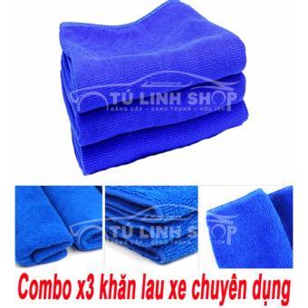 Combo x3 khăn lau chuyên dụng dành cho xe hơi.