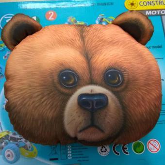 Gối tựa đầu ô tô 3D động vật hình gấu nâu