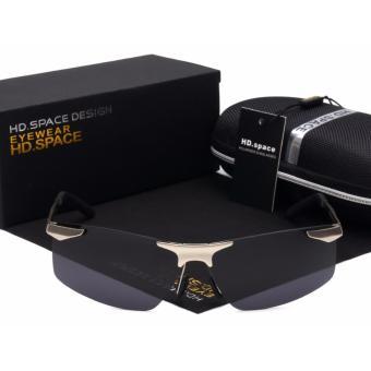 Mua Kính phân cực nam cao cấp siêu sang đẳng cấp Luxury Man F214 (Tròng đen - Gọng xám) giá tốt nhất