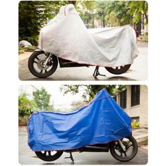 Bạt phủ xe máy che mưa che nắng siêu bền ( bạc)