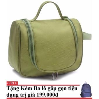 Mua Túi đựng đồ cá nhân du lịch ( xanh lá)+Tặng kèm balo du lịch gấp gọn giá tốt nhất