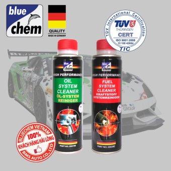Cặp sản phẩm Bluechem Làm sạch Động cơ Ô tô Xăng