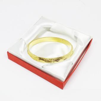 Vòng tay nữ Lamia mạ vàng chạm khắc tinh xảo|Vòng tay nữ giá rẻ nhất
