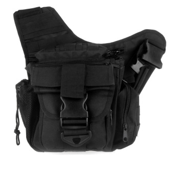 Molle Tactical Shoulder Strap Bag Pouch Travel Backpack Camera Military Bag Black (Intl)