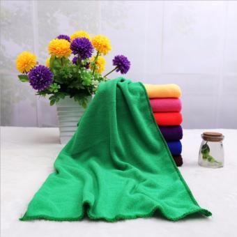 Bộ 5 khăn lau ô tô Micro Fiber siêu mịn GK-368 kích cỡ 30x60cm (Xanh lá)