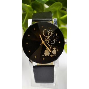Đồng hồ nam dây da thời trang IDMUASAM 9441 (Dây đen mặt đen)