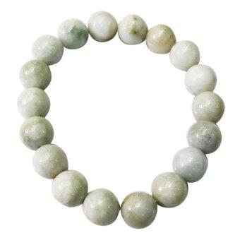 Vòng tay đá cẩm thạch jandeit Gemstone Bank (Trắng)