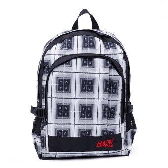 Ba lô thời trang Hasun caro vuông trắng đen (BLTT20)