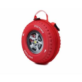 Ba lô bánh xe 3D (Đỏ).