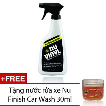 Dung dịch bảo vệ và phục hồi sáng bóng nội thất xe hơi Nu Finish Vinyl NV-300 473ml + Tặng nước rửa xe Nu Finish Car Wash 30ml