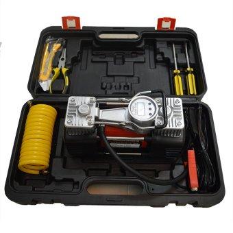 Máy bơm không khí Digital (Display Gauge) hạng nặng hai xi lanh 150PSi & phụ kiện vá lốp xe ô tô B939