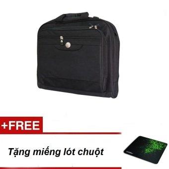Cặp Dùng Cho Laptop + Tặng Miếng Lót Chuột(Đen)