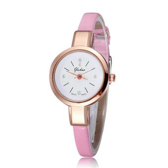 Đồng hồ nữ dây da tổng hợp YUHAO YU003-3 (Hồng nhạt)