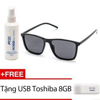 Bộ 1 kính mát và chai nước lau kính MKH 9017 (Đen) + Tặng 1 USB Toshiba 8GB
