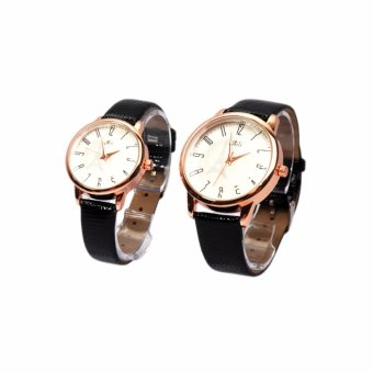 Đồng hồ đôi dây da Aili W6768