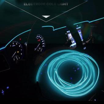 Đèn led xe hơi ô tô trang trí nội thất, có jack mồi thuốc dài 5m (xanh)