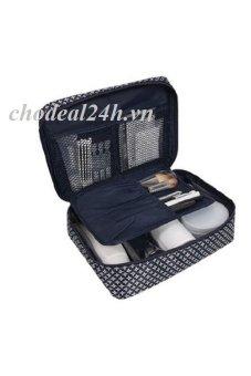 Túi đựng đồ cá nhân du lịch cho nam mẫu mới cd03 - chodeal24h (Xanh đậm phối hoa chữ thập)