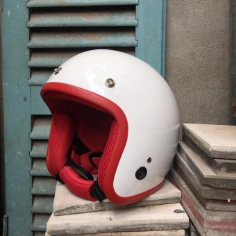 Mũ bảo hiểm LOLIPOP-( white+red)
