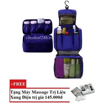 Bộ túi đựng đồ cá nhân du lịch và túi đựng đồ lót du lịch chodeal24h.vn (xanh dương) + Tặng Máy mát-xa xung điện trị liệu cho deal 24h SYK 208 4 miếng dán (Trắng)
