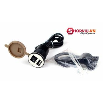 Bộ chế sạc điện thoại gắn dây điện trên xe máy, MOTO loại 1 H17